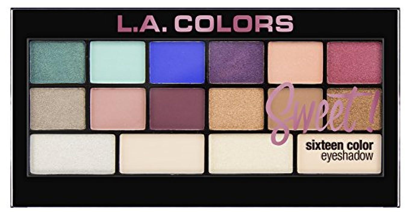 戦争穿孔するワックスL.A. Colors Sweet! 16 Color Eyeshadow Palette - Playful (並行輸入品)