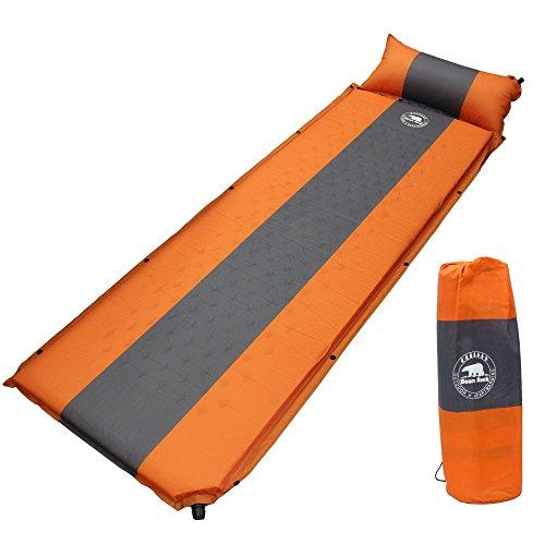 Bears Rock ベアーズロック キャンプ マット 厚さ 5cm オレンジ 自動膨張式