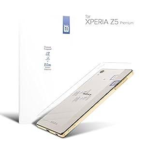 【背面フィルム】 SONY ソニー Xperia Z5 Premium ガラスフィルム (SO-03H) docomo ドコモ 国産ガラス採用 強化ガラス製 液晶保護フィルム 2015-2016 冬春モデル 厚さ0.33mm 2.5D 硬度9H ラウンドエッジ加工 on-device