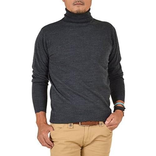 【サンタリート】 Santareet カシミヤタッチ タートルネック 天竺編み セーター PV-5121037 XL チャコール