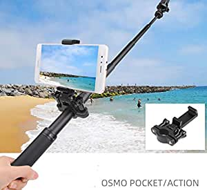 Taoric Gopro Hero 8 7 6 /DJI OSMO action/OSMO POCKET 対応 電話クリップ延長ロッド携帯電話固定金具