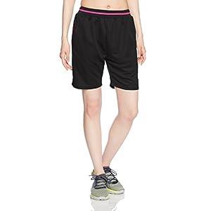 (エーディーワン)A.D.ONE レディース メッシュ1ハーフパンツ トレーニング パンツ ジャージ ショートパンツ ヨガ フィットネスパンツ ADL-795HP ブラック×ピンク L