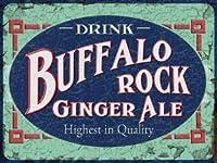 なまけ者雑貨屋 Buffalo Rock Ginger Ale ブリキ看板 ビンテージ・スタイル、壁の装飾、家、パブ、ビール、ガレージ、庭、コーヒー