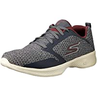 Skechers Australia GO Walk 4 - Desire Women's Walking Shoe, Charcoal/Burgundy, 7 US