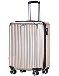 TTOvaligeria[TTOバリジェリア] スーツケース 軽量 静音 TSAロック搭載 Wファスナータイプ 大型 容量最大20%拡張 機内持ち込み