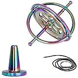 SHUAIHAN Creative Colorful Fingertip Gyroscope, Decompression Toy, Finger Gyroscope, Counter-Gravity Balance Gyroscope, Metal Mechanical Gyroscope