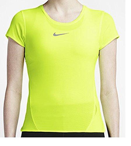 NIKE ナイキ エアロリアクト aeroreact ウィメンズ ランニングシャツ Tシャツ L(165-170cm) 国内正規品 719561 ボルト