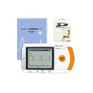 オムロン 携帯型心電計 HCG-801 心電図印刷ソフト+SD (オムロン推奨品SD) セット