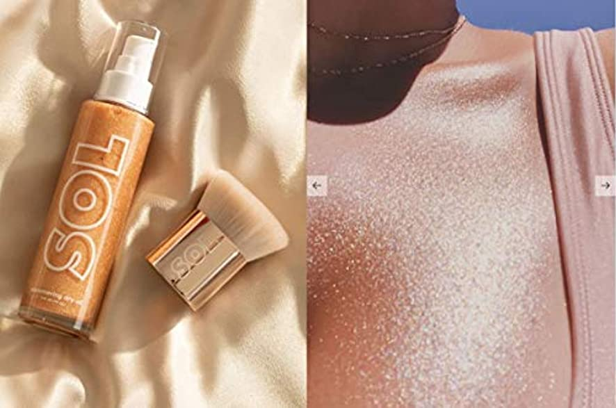 歯許可する引き受けるカラーポップ (ColourPop) SOL BODY sol shimmering dry oil WARM GOLD ボディオイル