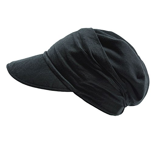 (カジュアルボックス)CasualBoxソフトエアリーキャスケット5色フリーサイズUVキャップ大きめサイズ紫外線対策涼しい日よけ帽子charmチャーム(ブラック)