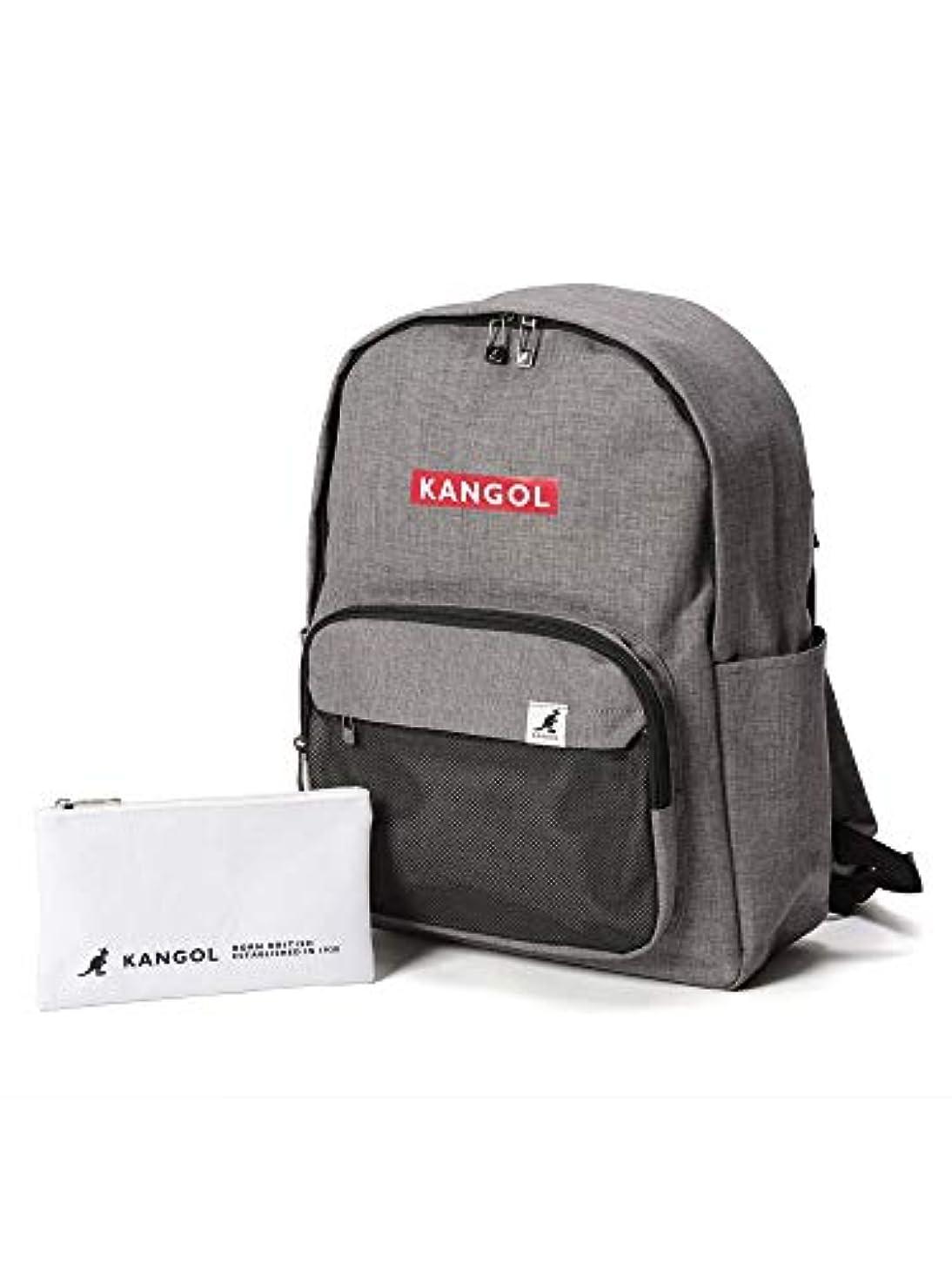 失う命題嬉しいです(カンゴール) KANGOL ロゴ メッシュポケット 背面ファスナー バックパック