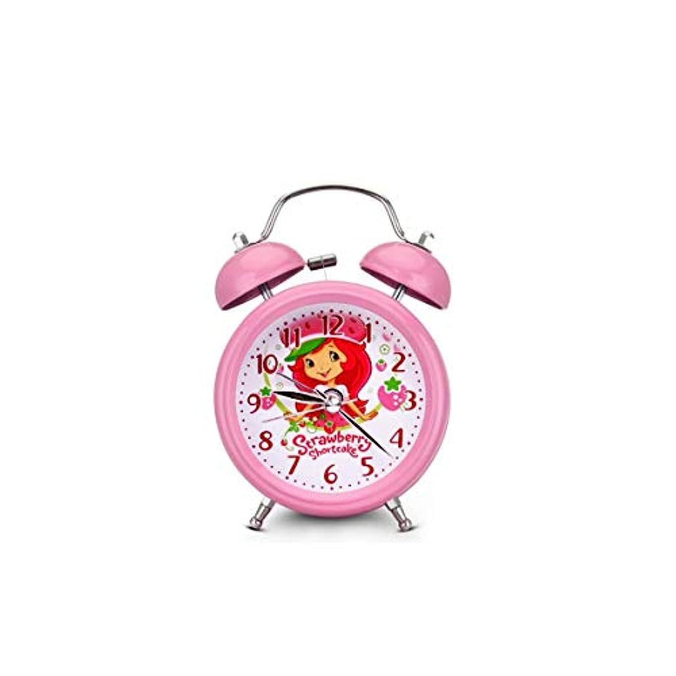 スケジュールきょうだいベットKaiyitong001 目覚まし時計、ミュートファッション学生のベッドサイド時計、夜のライトベル時計、かわいい子供用クォーツ時計、ベッドサイド卓上時計、ピンク (Color : Pink)