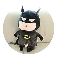 A_Magic アベンジャーズドールバットマンキャプテンアメリカぬいぐるみスーパーヒーローおもちゃ (Color : Batman, Size : 55cm)