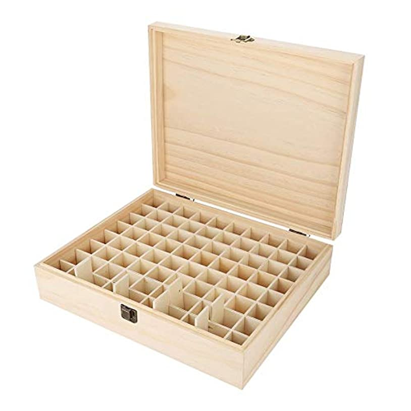 病者魔術師ページエッセンシャルオイルボックス、74スロット木製エッセンシャルオイル収納ボックスオーガナイザーケースアロマセラピーキャリングケーストラベルディスプレイプレゼンテーションコンテナ大容量