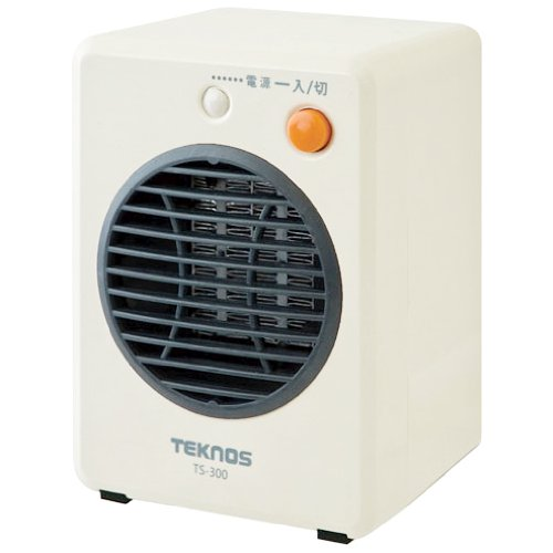 TEKNOS モバイルセラミックヒーター ホワイト TS-300 -