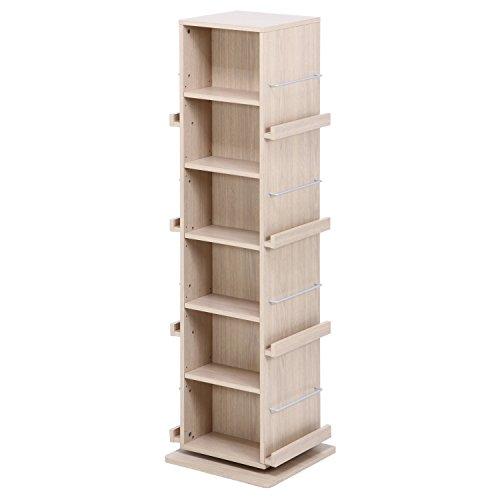 RoomClip商品情報 - 不二貿易 回転ラック 高さ146.4cm ホワイトウォッシュ 97526