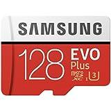 Samsung Mobile UKMB-MC128GA/EU Memory EVO Plus 128 GB Micro SD Card with Adapter