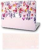 KEC Laptop Case for MacBook Air 13 w/Keyboard Cover Plastic Hard Shell Case A1369 / A1466 (Flower 2) [並行輸入品]