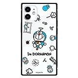 グルマンディーズ I'm Doraemon iPhone12 mini(5.4インチ)対応 スクエアガラスケース 総柄 IDR-22B