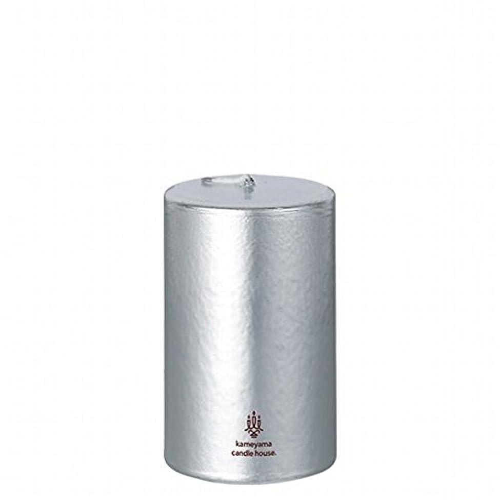 カメヤマキャンドル(kameyama candle) メタリックピラー2×3 「 シルバー 」