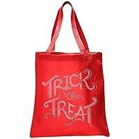 Red Trick or Treat Halloween Rhinestone Tote bag Trick or Treat Tote bag party gift sweet bag fancy dress ghost [並行輸入品]