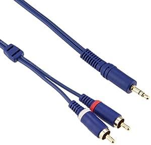 エレコム オーディオケーブル 3.5Фステレオミニプラグ - ピンプラグ×2(音声L:R) 1m [フラストレーションフリーパッケージ(FFP)] DH-MWR10/E