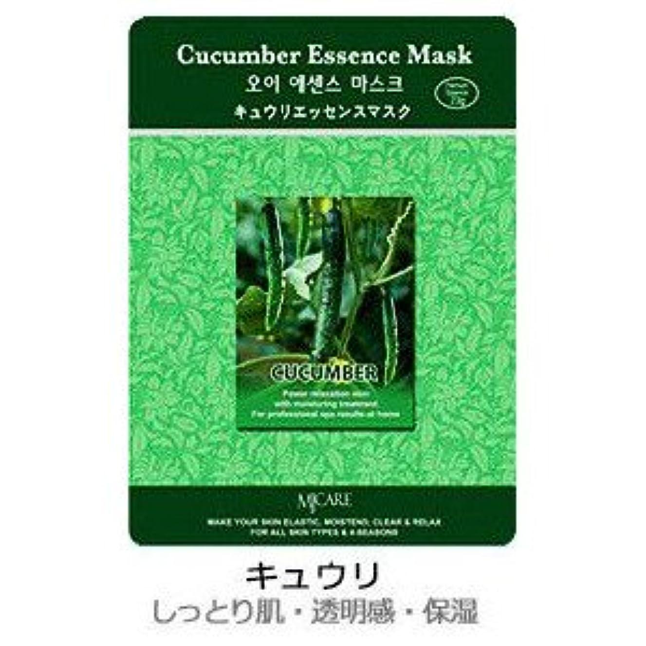 友情多年生プレゼンテーションMJ-CAREエッセンスマスク キュウリ10枚セット