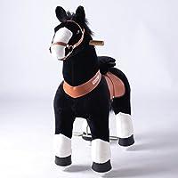 Ponycycle ポニーサイクル 子馬 電池無しで本物のように前へ進める 安全で楽しい おしゃれ [黒色?Mサイズ:4~9歳]