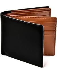 [Le sourire] 二つ折り 財布 本革 大容量 カード 18枚収納 二つ折り財布 新設計のボックス型小銭入れ メンズ