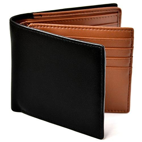 Le sourire 二つ折り 財布 本革 大容量 カード 18枚収納 新設計のボックス型小銭入れ 二つ折り財布 メンズ