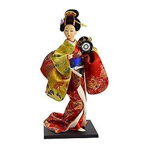 日本人形12インチ 太鼓 303-060