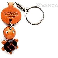 本革製 キーホルダー マスコット かめ VANCA CRAFT (日本製 職人の手作り)