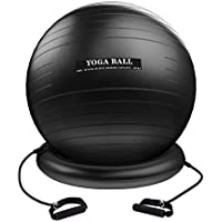 Homitt バランスボール75cm・トレーニングチューブ エクササイズ用 ジム/家/オフィスなどに適用