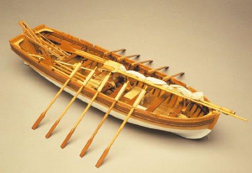 1060 木製帆船模型 マンチュア モデル パナルト 751 H.M.S. ビクトリー・ランチボート(パナルト社)