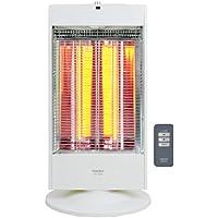 山善 遠赤外線カーボンヒーター(900/800/700/600W 4段階切替)(リモコン付)(首振り機能付) ホワイト DC-VJ093(W)