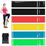 Jasonwell Resistance Loop Bands, Resistance Exercise Bands for Home Fitness, Crossfit, Stretching, Strength Training, Physical Therapy, Natural Latex Workout Bands, Set of 6