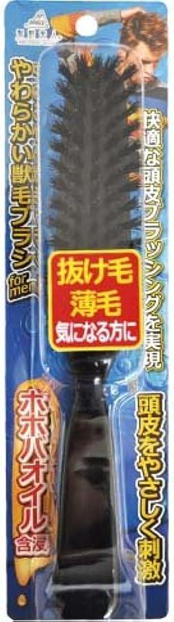 制限するペストリー石アヌシ 髪艶美人 ホホバオイル含浸やわらかい天然獣毛ブラシ for MEN TK-1204M