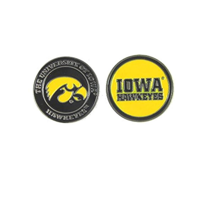 アレルギー出血罪悪感Iowa Hawkeyes両面uiゴルフボールマーカー