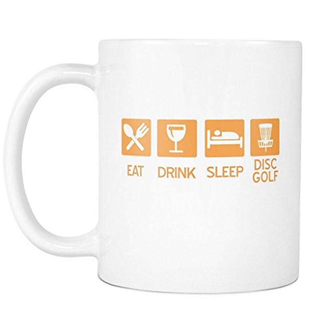 思想クック徹底的にEat Drink Sleep Disc – カラーグラフィック – FunnyディスクゴルフコーヒーMug Cup