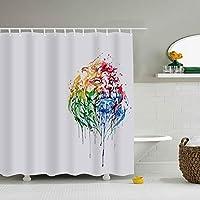 布製シャワーカーテンライナー フック付き ライオン 防カビ 防水 ストール バスタブカーテンセット バスルームの装飾用