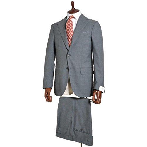 【SALE】De Petrillo デ・ペトリロ [春夏] スーツ 3ボタン ウールトロピカル ワンプリーツ D8 グレー *セール品の修理はすべて有料です