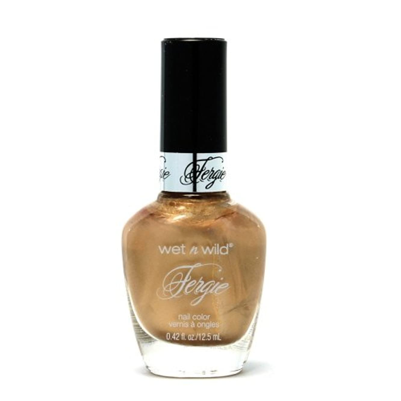 お金ゴム完全に乾く分配します(3 Pack) WET N WILD Fergie Heavy Metal Nail Polish - Graphite Greetings (DC) (並行輸入品)