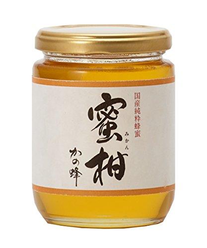 はちみつ 専門店【かの蜂】 国産 みかん 蜂蜜 300g 完熟 の 純粋 蜂蜜 (瓶容器)