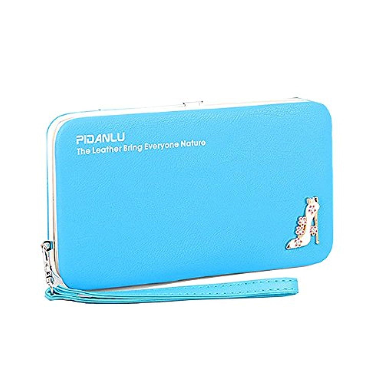 Strimm 女性の女の子のロングウォレット財布、大型のキャッシュスロット1個、伸縮性のある携帯電話ポケット1個、ジッパーコインポケット1個