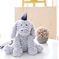 HuaQingPiJu-JP 25cmロバのおもちゃソフトぬいぐるみ人形ぬいぐるみぬいぐるみおもちゃの柔らかい贈り物子供(ライトグレー)