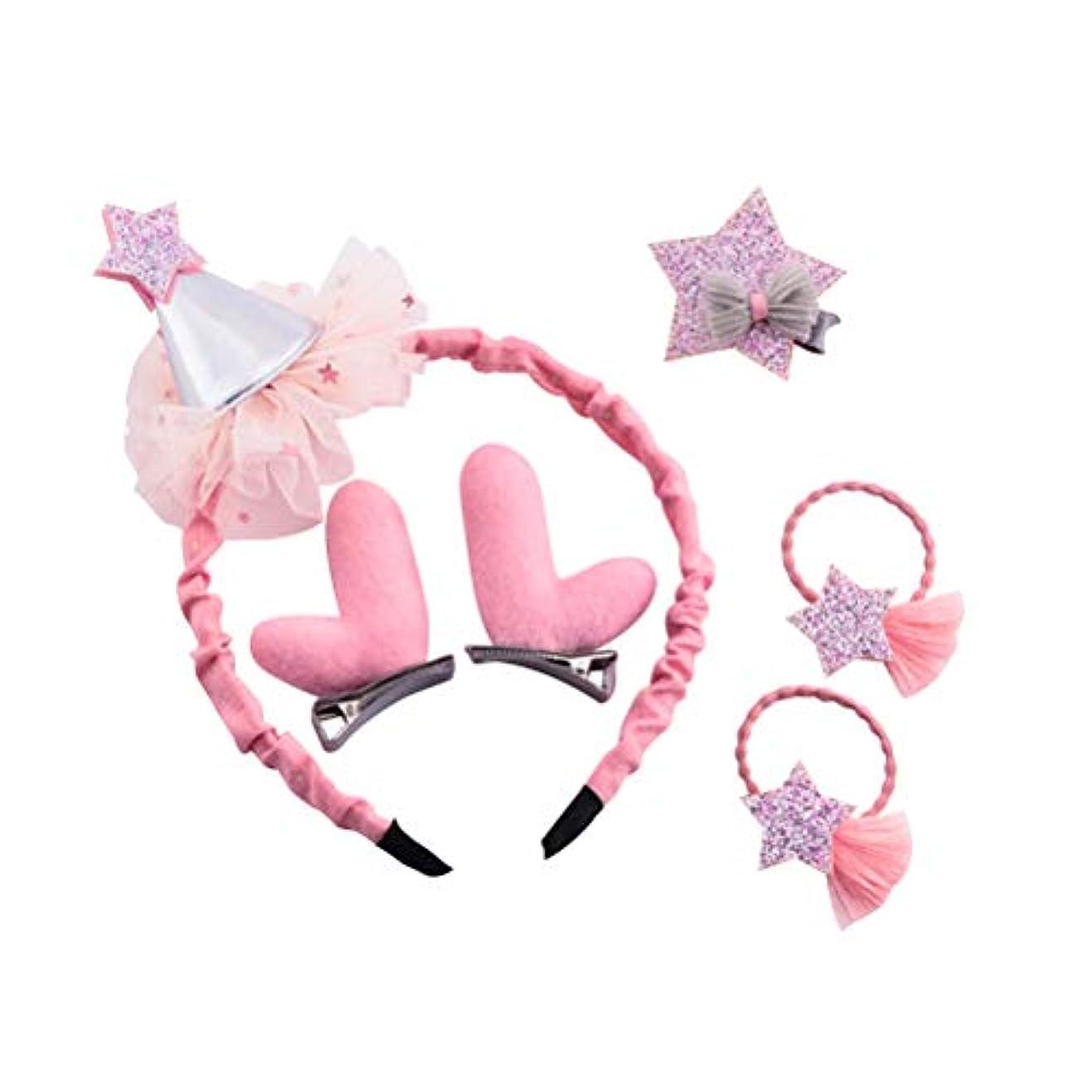トロイの木馬研究生き残りBESTOYARD クリスマスの髪のアクセサリー帽子のレンダーの飾り飾りヘッドバンドのヘアクリップ女の子のためのピンバレッタの髪の弾性(ピンク)