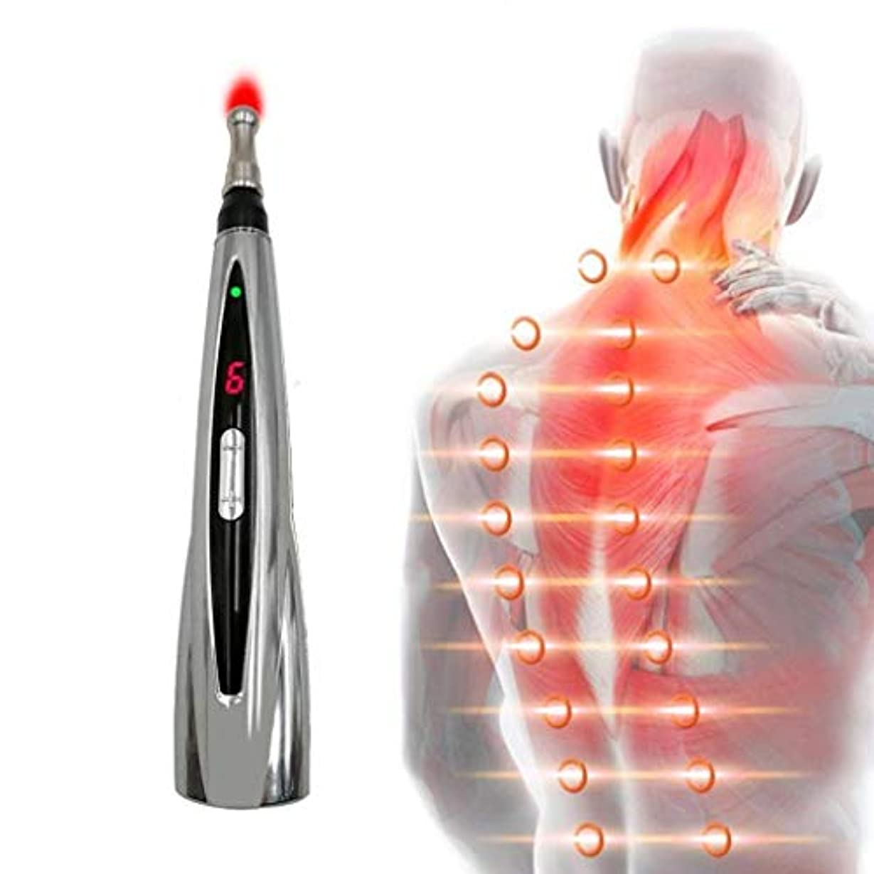 サッカー数学火山鍼治療ペン、エネルギーパルス指圧スティック、ホームマッサージャー、経絡edge器、電子鍼治療ペン、痛みを和らげ、ヘルスケア