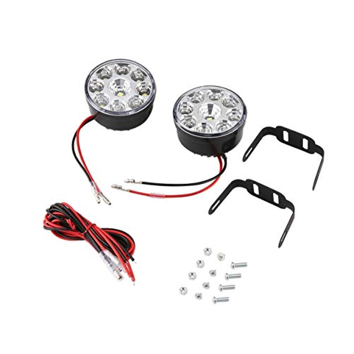 恐ろしい匹敵します買い手2个9 LED車ヘッドのフロントフォグライトオフロードランプ日中走行用ライト