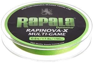 Rapala(ラパラ) PEライン ラピノヴァX マルチゲーム 150m 0.8号 17.8lb ライムグリーン RLX150M08LG