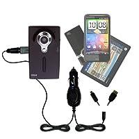 GomadicデュアルDC車オートミニ充電器Designed for the RCA ez229hd Small Wonderデジタルビデオカメラ–Uses Gomadic複数のデバイスを充電するin Your Car